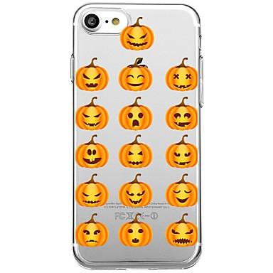 voordelige iPhone 8 hoesjes-hoesje Voor iPhone 7 Plus / iPhone 6s Plus / iPhone 6 Plus iPhone 8 Plus / iPhone 8 / iPhone SE / 5s Transparant / Patroon Achterkant Cartoon / Halloween Zacht TPU