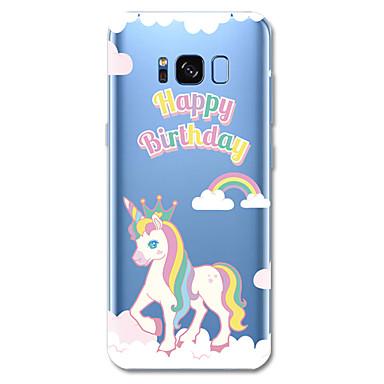 voordelige Galaxy S-serie hoesjes / covers-hoesje Voor Samsung Galaxy S8 Plus / S8 / S7 edge Patroon Achterkant Woord / tekst / Eenhoorn / Cartoon Zacht TPU