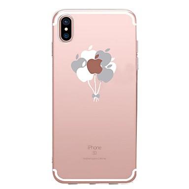 Недорогие Кейсы для iPhone X-Кейс для Назначение Apple iPhone XS / iPhone XR / iPhone XS Max Прозрачный / С узором Кейс на заднюю панель Композиция с логотипом Apple / Воздушные шары Мягкий ТПУ