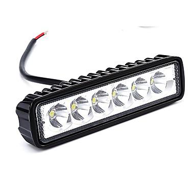 voordelige Motorverlichting-Automatisch / Motor / Vrachtwagen Lampen 18W Krachtige LED 1800lm 6 Werklamp For Universeel Alle Modellen Alle jaren