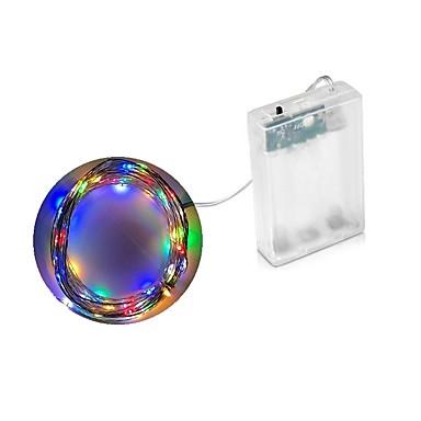 levne Dovolená dekorační světlo-2m Světelné řetězy 20 LED diody Dip LED Teplá bílá / Vícebarevné Voděodolné / Párty / Ozdobné AA baterie Powered 1ks / IP44