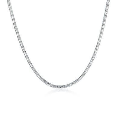 voordelige Heren Ketting-Heren Dames Kettingen Standaard Modieus Koper Verzilverd Zilver Kettingen Sieraden Voor Dagelijks Causaal