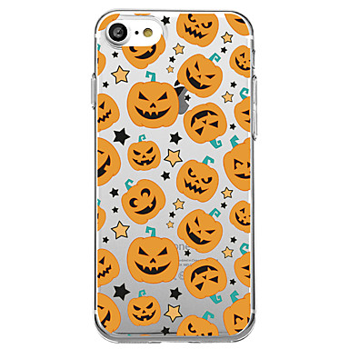 voordelige iPhone-hoesjes-hoesje Voor iPhone 7 / iPhone 7 Plus / iPhone 6s Plus iPhone 8 Plus / iPhone 8 / iPhone SE / 5s Transparant / Patroon Achterkant Cartoon / Halloween Zacht TPU