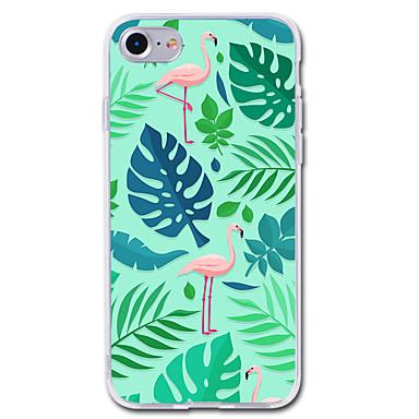 voordelige iPhone 5 hoesjes-hoesje Voor iPhone 7 / iPhone 7 Plus / iPhone 6s Plus iPhone SE / 5s Transparant / Patroon Achterkant Flamingo / dier Zacht TPU