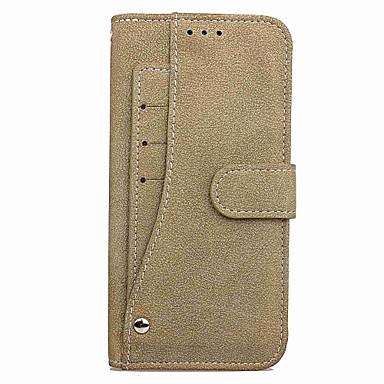 Недорогие Чехлы и кейсы для Galaxy Note-Кейс для Назначение SSamsung Galaxy Note 8 Кошелек / Бумажник для карт / со стендом Чехол Однотонный Твердый Кожа PU