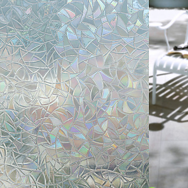 رخيصةأون الستائر-هندسي ملصق النافذة, PVC/Vinyl مادة نافذة الديكور غرفة المعيشة غرفة حمام شوب / مقهى المطبخ