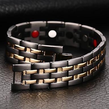 voordelige Fijne Sieraden-Heren Armbanden met ketting en sluiting Bangles Natuur Modieus Equilibrio Titanium Staal Armband sieraden Zwart Voor Lahja Dagelijks