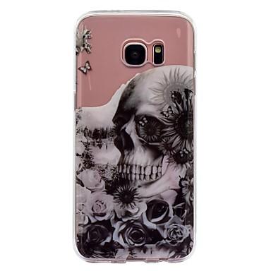 voordelige Galaxy S-serie hoesjes / covers-hoesje Voor Samsung Galaxy S8 Plus / S8 IMD / Transparant / Patroon Achterkant Doodskoppen / Bloem Zacht TPU voor S8 Plus / S8 / S7 edge