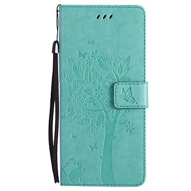 voordelige Galaxy Note-serie hoesjes / covers-hoesje Voor Samsung Galaxy Note 8 / Note 5 / Note 4 Portemonnee / Kaarthouder / met standaard Volledig hoesje Kat / Boom Hard PU-nahka