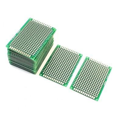 olcso Tartozékok-10 db kétoldalas prototípusú prototípusú PCB lap 4cm x 6cm