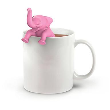 olcso Teázás kellékek-elefánt tea infuser szilikon tea szűrő laza levél gyógynövény fűszer szűrő
