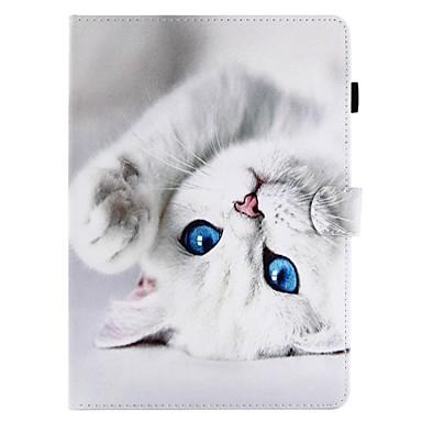 رخيصةأون أغطية أيباد-غطاء من أجل Apple iPad Air / iPad 4/3/2 / iPad (2018) محفظة / حامل البطاقات / مع حامل غطاء كامل للجسم قطة قاسي جلد PU / iPad Pro 10.5 / iPad (2017)