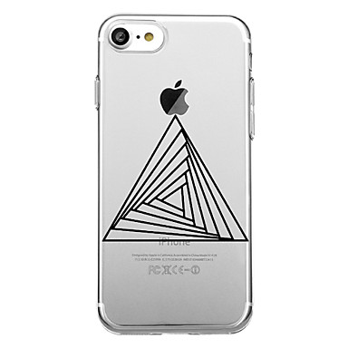 voordelige iPhone 5 hoesjes-hoesje Voor iPhone 7 / iPhone 7 Plus / iPhone 6s Plus iPhone 8 Plus / iPhone 8 / iPhone SE / 5s Patroon Achterkant Geometrisch patroon Zacht TPU
