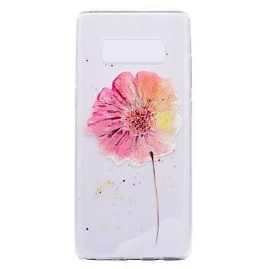 voordelige Galaxy Note 5 Hoesjes / covers-hoesje Voor Samsung Galaxy Note 8 / Note 5 Transparant / Patroon Achterkant Bloem Zacht TPU voor Note 8 / Note 5