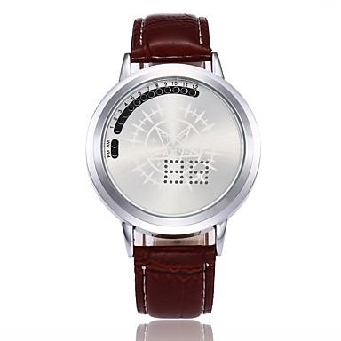 Muškarci Sportski sat digitalni sat Digitalni Umjetna koža 30 m Kreativan LED Šiljci za meso Ležerne prilike Jedinstveni oglasni sat - Crn Kava