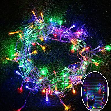 olcso Ünnepi Dekorációs Fény-10 m Fényfüzérek 100 LED SMD 0603 Meleg fehér / RGB / Fehér Vízálló / Színváltós 220 V / 110 V 1db / IP65