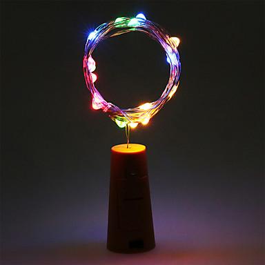olcso Ünnepi Dekorációs Fény-2m Fényfüzérek 20 LED Meleg fehér / RGB / Fehér Akkumulátor