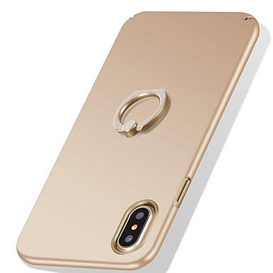 For IPhone X 8 Plus Case Cover Shockproof Ring Holder Ultra Thin Back Solid Color Hard PC Apple 6209650 2018 799