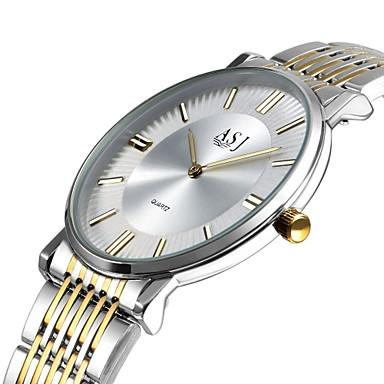 رخيصةأون ساعات الرجال-ASJ رجالي ساعة المعصم ياباني كوارتز ستانلس ستيل فضة 30 m طرد كبير مماثل كلاسيكي كاجوال موضة أنيق الحد الأدنى - فضي أبيض / ذهبي سنة واحدة عمر البطارية / SSUO LR626