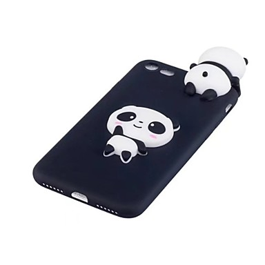 voordelige iPhone 6 Plus hoesjes-hoesje Voor Apple iPhone X / iPhone 8 Plus / iPhone 8 Schokbestendig Achterkant Cartoon / 3D Cartoon / Panda Zacht TPU
