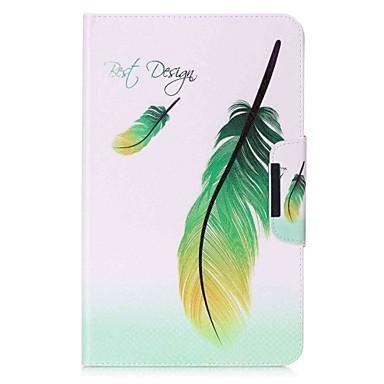voordelige Samsung-hoes voor tablets-hoesje Voor Samsung Galaxy Tab A 10.1 (2016) Volledig hoesje / tablet Cases Veren Hard PU-nahka