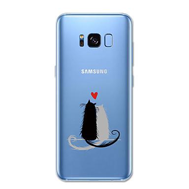 voordelige Galaxy S-serie hoesjes / covers-hoesje Voor Samsung Galaxy S8 Plus / S8 / S7 edge Patroon Achterkant Kat / dier Zacht TPU