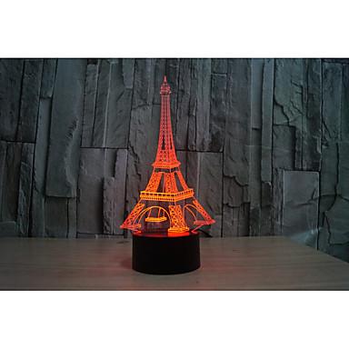 olcso USB Lights-1set 3D éjszakai fény Váltó USB Színváltós / Kreatív / Díszítmény 5 V Művészi / LED / Modern Kortárs
