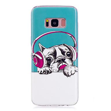 Недорогие Чехлы и кейсы для Galaxy S6 Edge-Кейс для Назначение SSamsung Galaxy S8 Plus / S8 / S7 edge Сияние в темноте / IMD / С узором Кейс на заднюю панель С собакой Мягкий ТПУ