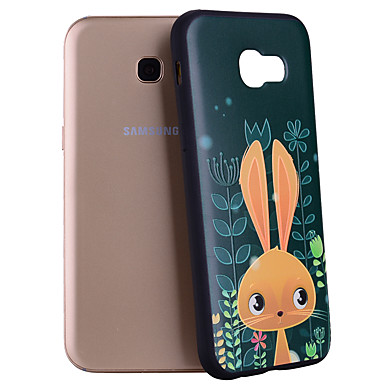 voordelige Galaxy A-serie hoesjes / covers-hoesje Voor Samsung Galaxy A3 (2017) / A5 (2017) / A7 (2017) Patroon Achterkant dier / Cartoon Zacht Siliconen