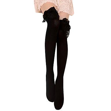 Pentru femei lolita Șosete / ciorapi Negru Dantelă Bumbac Lolita Accesorii / Lolita Stil Gotic / Clasic / Traditional Lolita