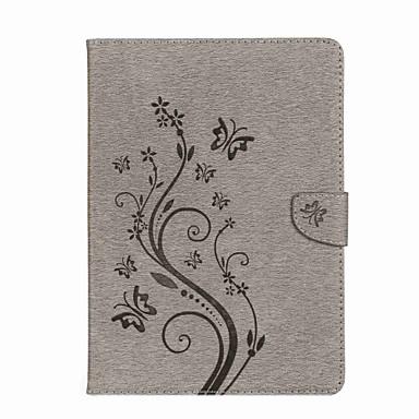رخيصةأون أغطية أيباد-غطاء من أجل Apple iPad Air / iPad 4/3/2 / iPad Mini 3/2/1 محفظة / حامل البطاقات / مع حامل غطاء كامل للجسم فراشة / زهور قاسي جلد PU / iPad Pro 10.5 / iPad (2017)