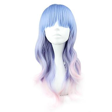 Peruci de Cosplay Pentru femei 22 inch Fibră Rezistentă la Căldură Albastru Anime