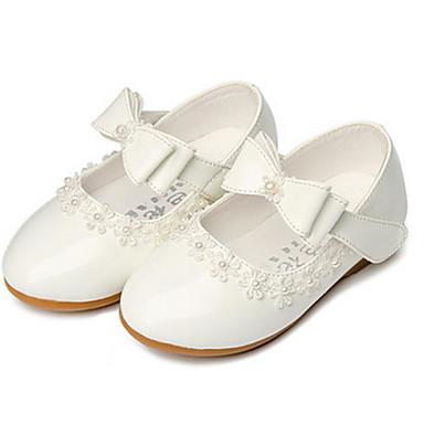voordelige Bloemenmeisjesschoenen-Meisjes Bloemenmeisjesschoenen PU Sneakers Little Kids (4-7ys) Wit / Zwart / Rood Lente / Herfst