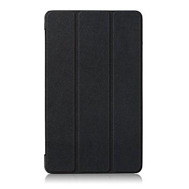 رخيصةأون حالة سامسونج اللوحي-غطاء من أجل Samsung Galaxy Tab A 8.0 (2017) غطاء كامل للجسم / حالات اللوحي لون سادة قاسي جلد PU