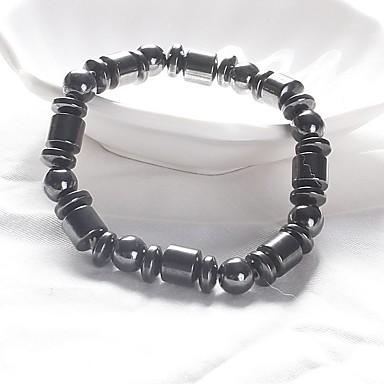 رجالي نسائي أساور حبلا مغناطيس موضة طاقة حجر مجوهرات سوار أسود من أجل مناسب للبس اليومي