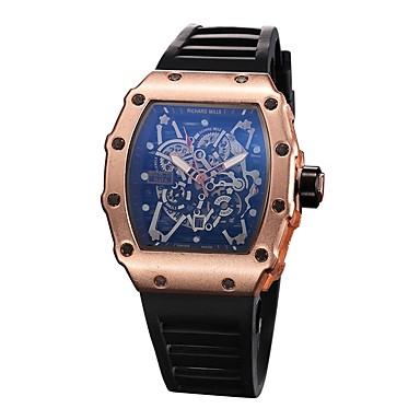 9a73b7b8c5c Homens Relógio Esportivo Relógio Esqueleto Relógio de Pulso Quartzo  Borracha Preta Relógio Casual Analógico Amuleto - Preto Prata Ouro Rose de  6303984 2019 ...