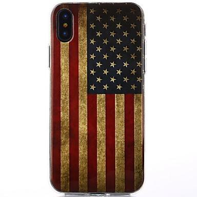 voordelige iPhone X hoesjes-hoesje Voor Apple / iPhone X iPhone X IMD Achterkant Vlag / Cartoon / Glitterglans Zacht TPU