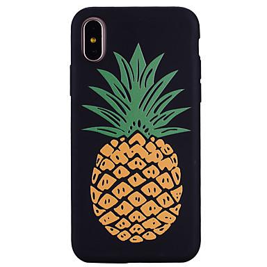 voordelige iPhone 6 Plus hoesjes-hoesje Voor Apple iPhone X / iPhone 8 Plus / iPhone 8 Patroon Achterkant Voedsel / Fruit Zacht Siliconen