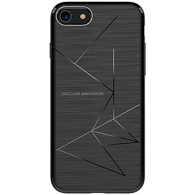 voordelige iPhone X hoesjes-hoesje Voor Apple / iPhone X iPhone X / iPhone 8 Plus / iPhone 8 Schokbestendig / Mat Achterkant Lijnen / golven Zacht TPU