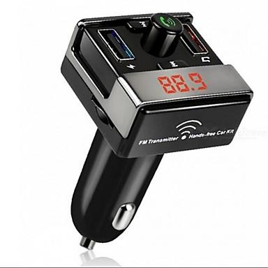 Недорогие Bluetooth гарнитуры для авто-dual usb bluetooth hands-free mp3 audio player автомобиль fm передатчик поддержка tf карта usb флеш-диск для android ios me3l