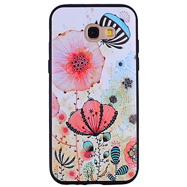 voordelige Galaxy A-serie hoesjes / covers-hoesje Voor Samsung Galaxy A3 (2017) / A5 (2017) / A7 (2017) Patroon Achterkant Bloem Zacht Siliconen