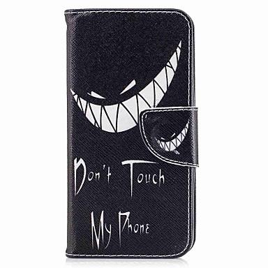 رخيصةأون LG أغطية / كفرات-غطاء من أجل LG V30 / LG Q6 محفظة / حامل البطاقات / مع حامل غطاء كامل للجسم جملة / كلمة قاسي جلد PU