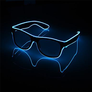 1PC وامض أدى النظارات مضيئة حزب ديكور الإضاءة الكلاسيكية هدية ضوء مهرجان مشرق هدية