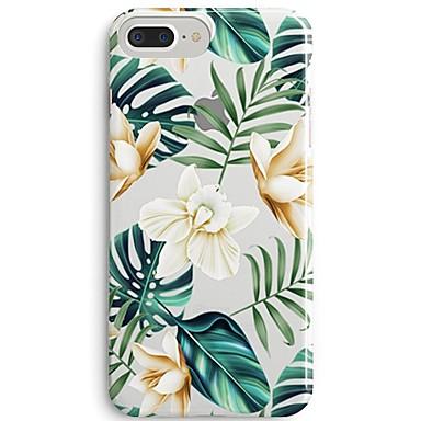 voordelige iPhone 5c hoesjes-hoesje Voor Apple iPhone 8 Plus / iPhone 8 / iPhone SE / 5s Ultradun / Transparant / Patroon Achterkant Boom / Bloem Zacht TPU