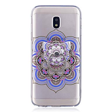 voordelige Galaxy J-serie hoesjes / covers-hoesje Voor Samsung Galaxy J7 (2017) / J7 (2016) / J5 (2017) Ringhouder / Transparant / Patroon Achterkant Mandala Zacht TPU