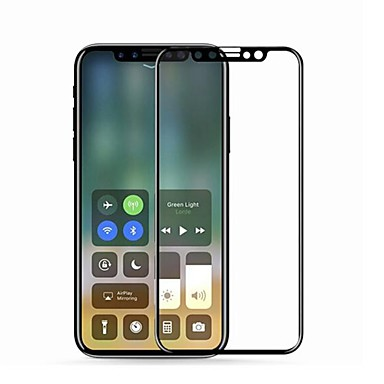 olcso iPhone X képernyővédő fóliák-Képernyővédő fólia mert Apple iPhone X Edzett üveg 1 db 9H erősség / 2.5D gömbölyített szélek / Karcolásvédő