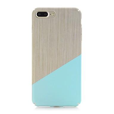 voordelige iPhone 7 hoesjes-hoesje Voor Apple iPhone X / iPhone 8 Plus / iPhone 8 Mat / Patroon Achterkant Houtnerf Hard PC