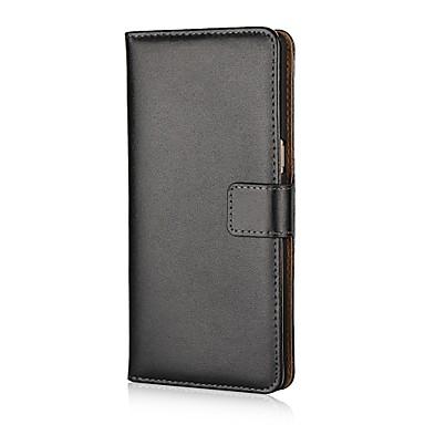Недорогие Чехлы и кейсы для Galaxy Note Edge-Кейс для Назначение SSamsung Galaxy Note 8 / Note 4 / Note Edge Кошелек / Бумажник для карт / со стендом Чехол Однотонный Твердый Кожа PU