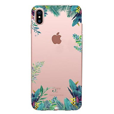 voordelige iPhone X hoesjes-hoesje Voor Apple iPhone XS / iPhone XR / iPhone XS Max Transparant / Patroon Achterkant Boom Zacht TPU