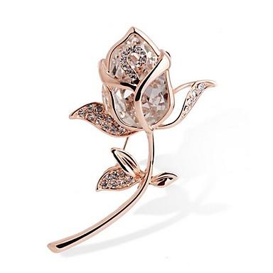 رخيصةأون بروشات-نسائي كريستال الماس الاصطناعي دبابيس سيدات حجر الراين بروش مجوهرات ذهبي من أجل هدية مراسم